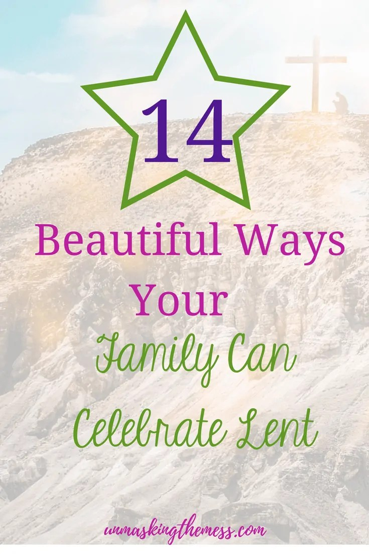 14 Beautiful Ways Your Family Can Celebrate Lent. Do you celebrate Lent? Can I be honest, I've been a Christian for longer than I remember, but I didn't know anything about Lent. When we realize the importance of Lent, we can answer the question 'what to give up for Lent?' We can focus and grow more like Christ through acts of worship. #lent #ideas #whattogiveupforlent #devotions #prayer