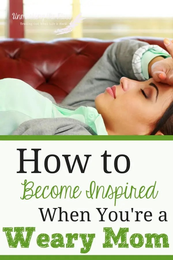 How to Become Inspired When You're a Weary Mom. Being a mom is hard and we become weary, don't we?!? We don't have to struggle with the weariness, we can find words of encouragement from the Bible. Learn how to pray Bible verses and seek God to find renewed energy and wisdom to help parent these kids. #moms #parenting #encouragement #Bibleverses