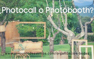 ¿Photocall o Photobooth?