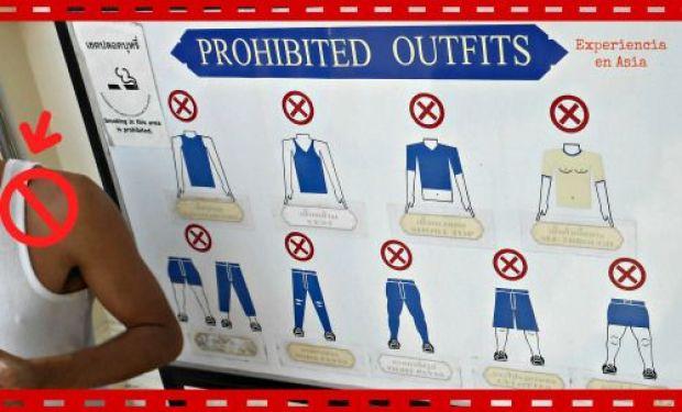Normas de vestimenta para visitar templos y Gran Palacio.