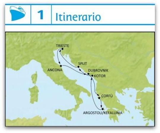 itinerario crucero