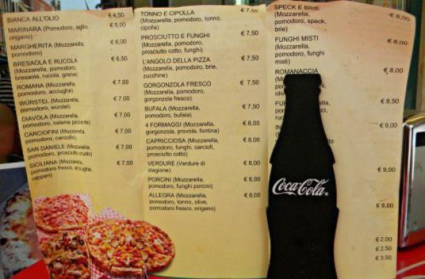 PIZZA ITALIA PRECIOS
