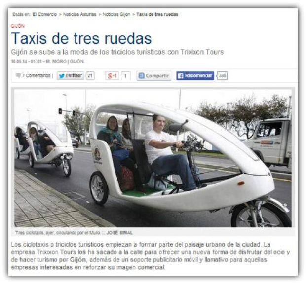 Taxi de tres ruedas gijon