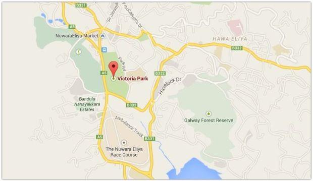 victoria park mapa Nuwara Eliya