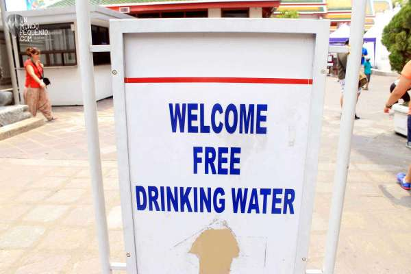 Wat Pho free water