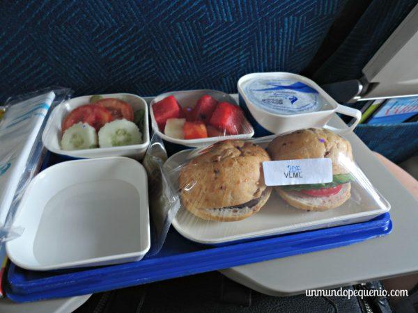 Comida de Bangkok Airways