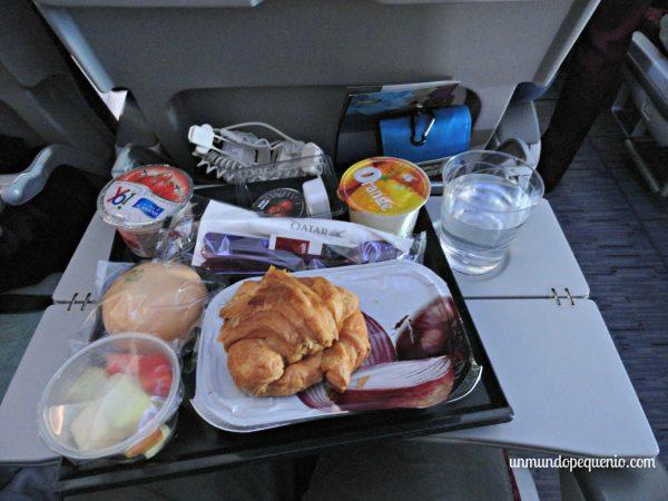 Comida de Qatar Airways