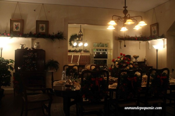 Comedor de la casa de Edison