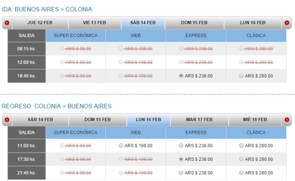 Tickets a Colonia por Colonia Express
