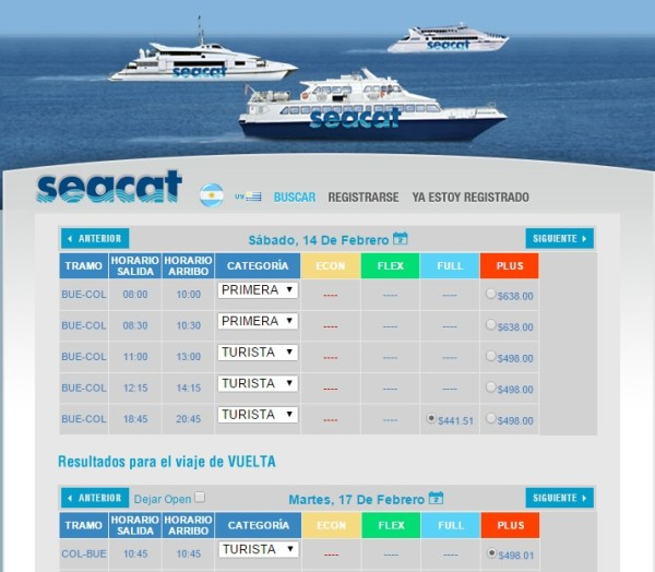 Tickets a Colonia por Seacat