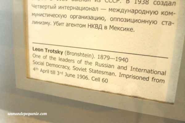 Prisión Trubetskoy - Celda de Trotsky