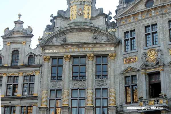 Casa de los Cerveceros en la Grand Place de Bruselas