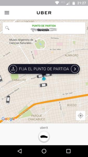 Punto de partida Uber