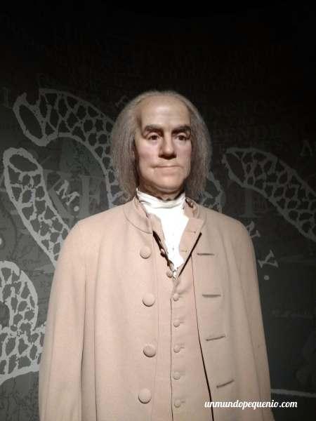 Benjamin Franklin de cera