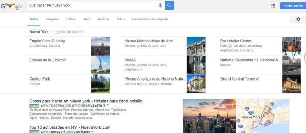 Lugares de interés Google