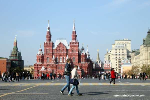 Gente en la Plaza Roja