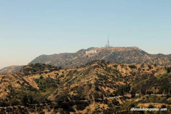 Cartel de Hollywood visto desde el observatorio Griffith