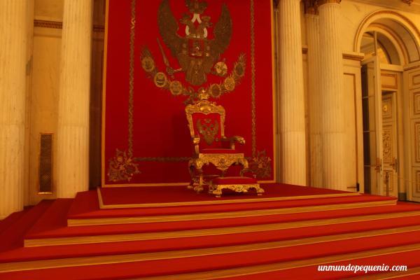 El trono del Salón de San Jorge