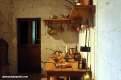 Sartenes en la cocina de Chambord