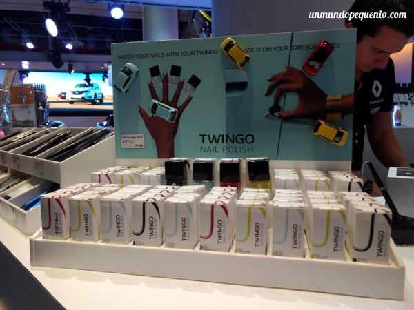 Esmaltes de uñas con los colores del Twingo