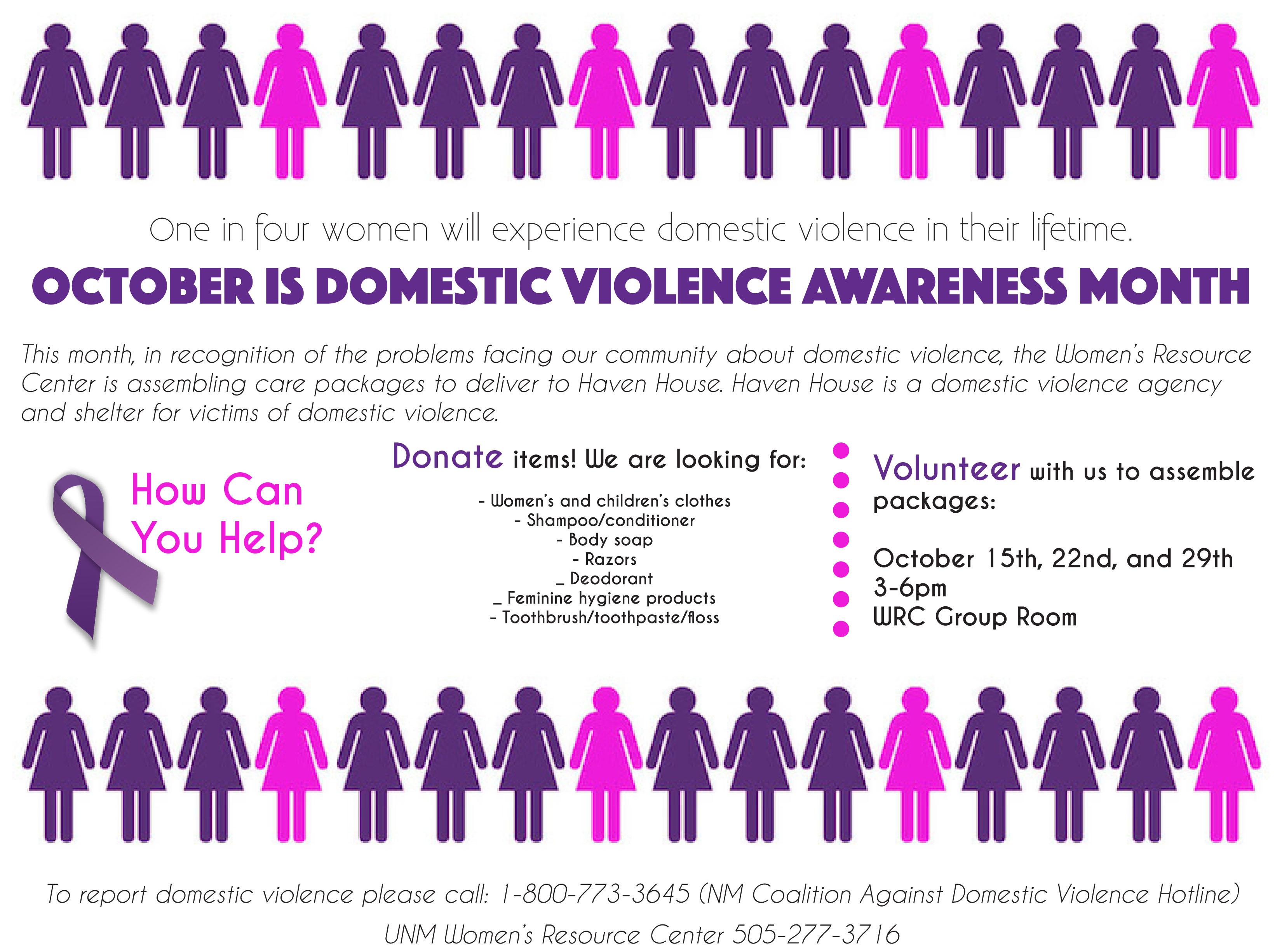 October Awareness Domestic Violence
