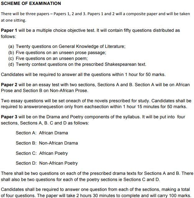 waec literature english answers