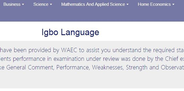 waec igbo 2019 answers