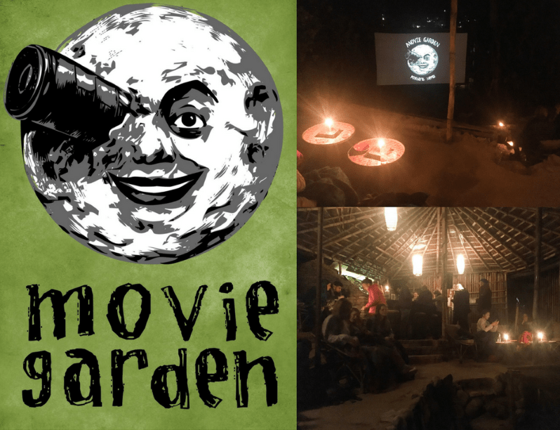 Movie Garden cinéma en plein air à Pokhara au Népal