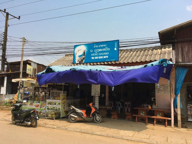 Restaurant local Vien Savanh à Vang Vieng au Laos