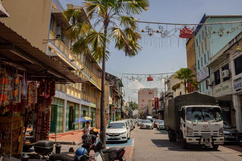 Rue du quartier Little India à Penang