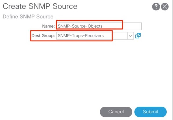 Configuring SNMP for ACI -