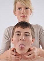 Palpating thyroglossal cyst image