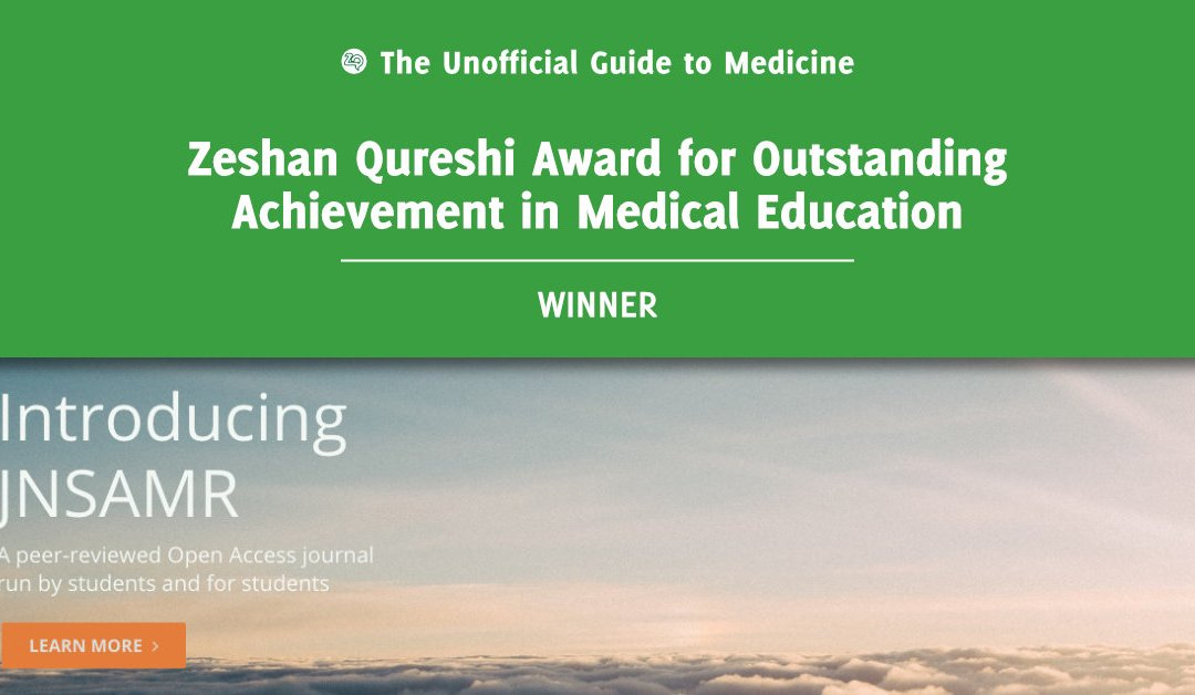 Zeshan Qureshi Award for Outstanding Achievement in Medical Education Winner: Matthew Byrne