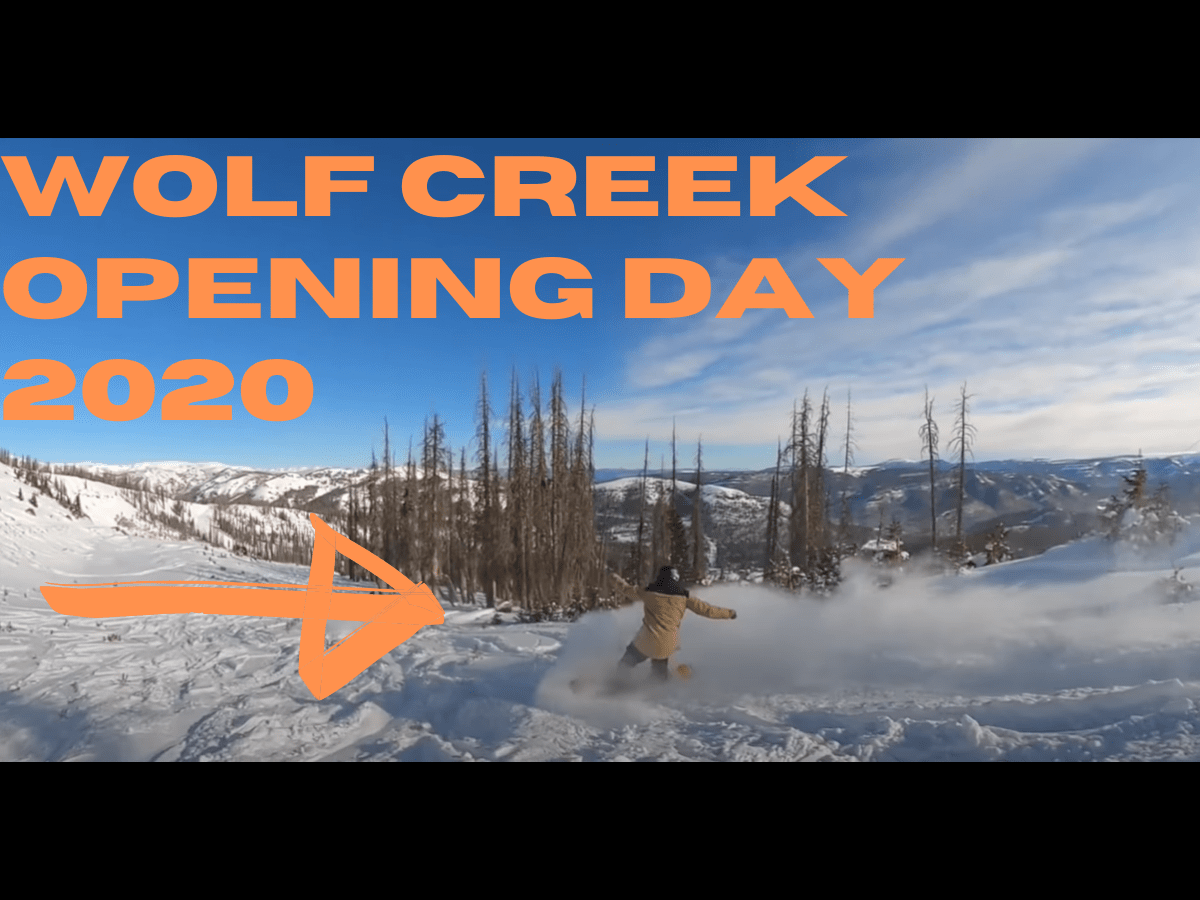 Wolf Creek Top To Bottom Powder Run on OPENING DAY! (Can't Miss Video)