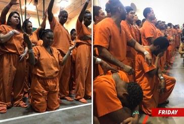 Video: Kanye West se metió a tocar a una prisión en Houston