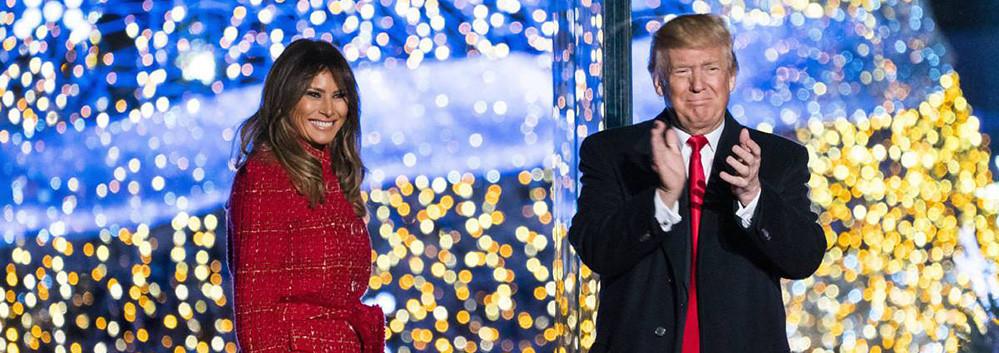 El presidente Trump proclama que Jesús es la razón de la temporada en National Christmas Tree Lighting
