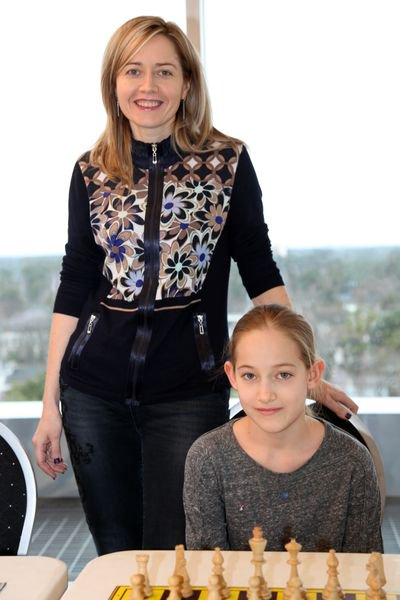 Grischuk jr with mum Zukhova