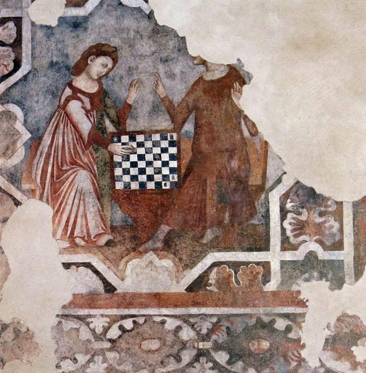 19_Dama gioca a scacchi con Frate
