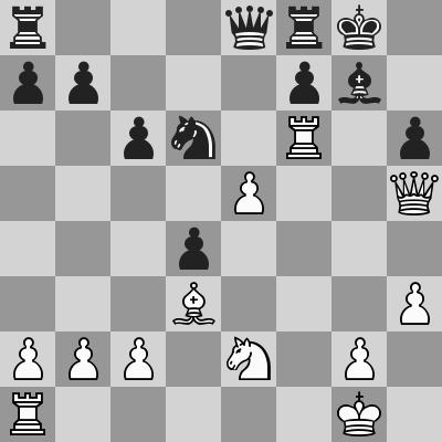 Fischer-Benko dopo 21. Ce2