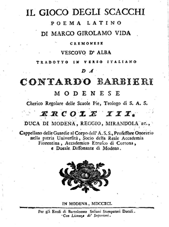Vida Barbieri 1791