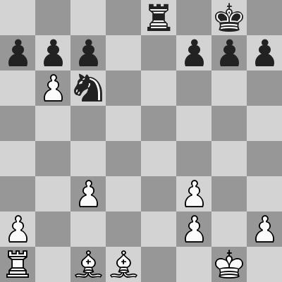 Gunina-Zhao dopo 17.gxf3