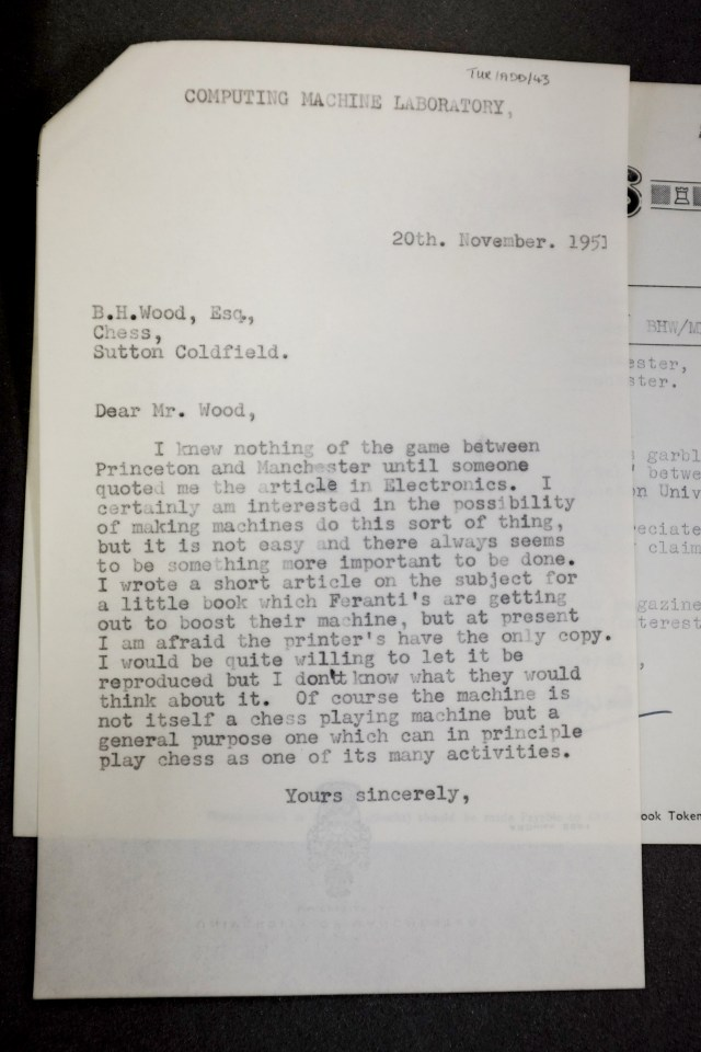 20-11-1951 Risposta di Turing