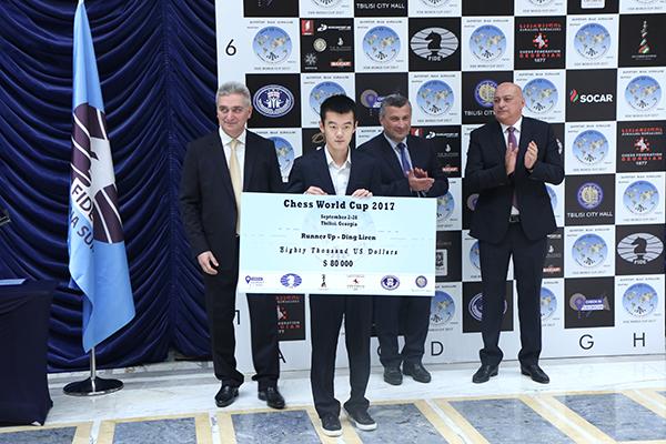 FIDE World CUP 2017 - Ding Liren premiato