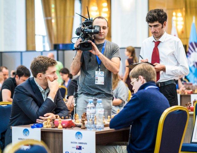 FIDE World CUP 2017 - R1 Karjakin vs. Smirnov (Lennart Ootes)