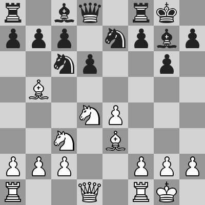 Deutsch-Carlsen dopo 8. ... d6