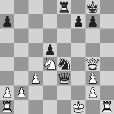 Eljanov-Hammer dopo 24. ... Ce4
