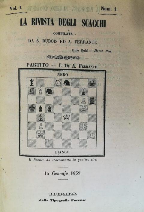 La Rivista degli Scacchi: Num.1 - 15 Gennajo 1859