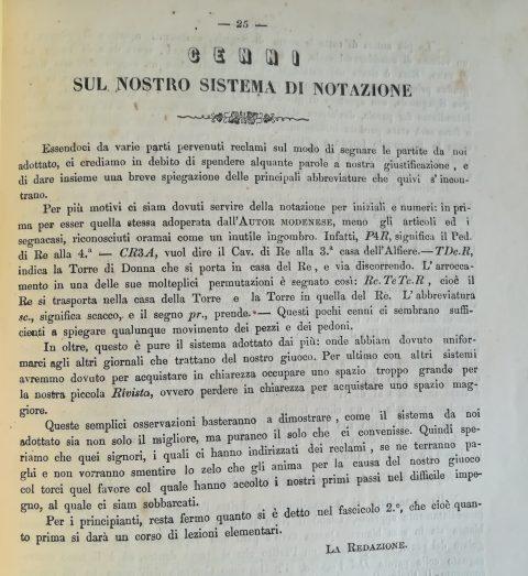 La Rivista degli Scacchi: Anno I. Num.4 – 28 Febbraro 1859, p.25