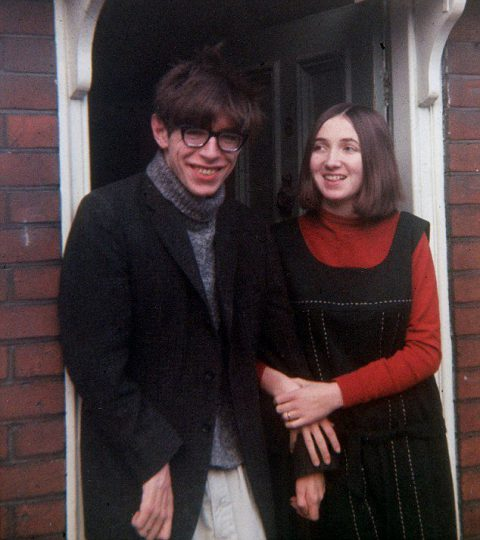 Stephen Hawking and his wife Jane, 1965