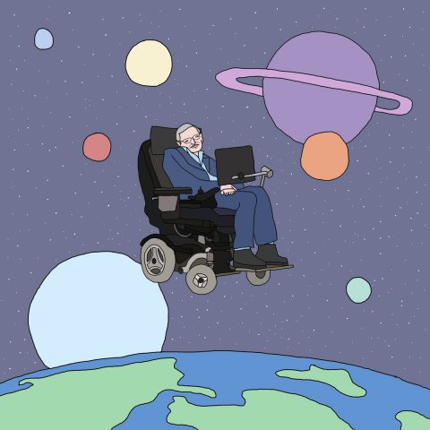 Stephen Hawking seen by @getbentsaggy